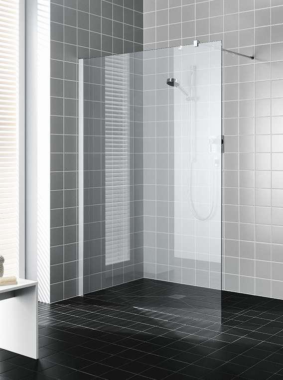 La paroi de douche Walk-In de série : exactement sur mesure - Kermi